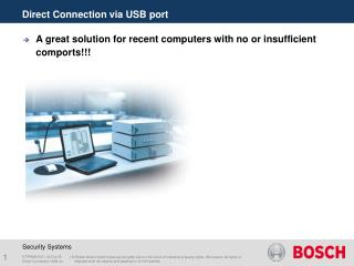 Direct Connection via USB port