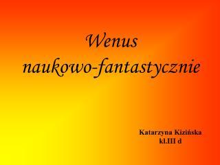 Wenus  naukowo-fantastycznie