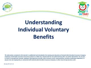Understanding Individual Voluntary Benefits