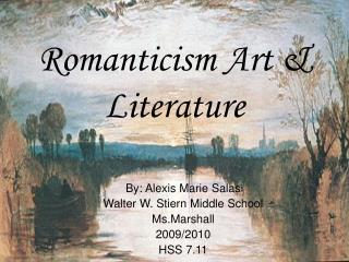 Romanticism Art & Literature