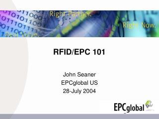 RFID/EPC 101