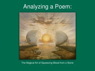 Analyzing a Poem: