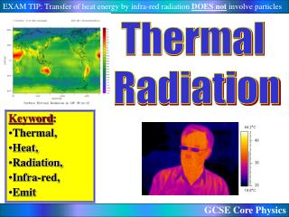 Keyword:  Thermal, Heat, Radiation, Infra-red,  Emit