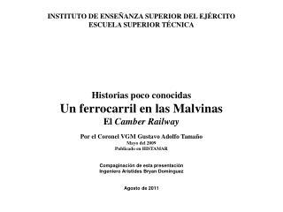INSTITUTO DE ENSEÑANZA SUPERIOR DEL EJÉRCITO ESCUELA SUPERIOR TÉCNICA