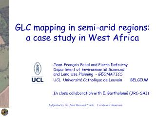 GLC mapping in semi-arid regions: a case study in West Africa