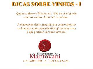 DICAS SOBRE VINHOS - I