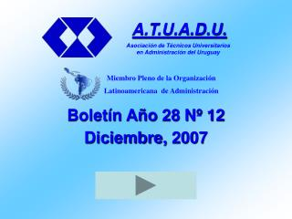 Boletín Año 28 Nº 12 Diciembre, 2007
