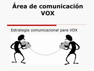 Área de comunicación VOX