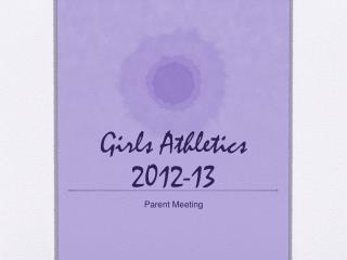 Girls Athletics 2012-13