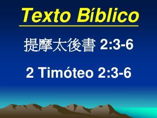 Texto B í blico 提摩太後書  2:3-6 2 Timóteo 2:3-6