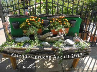 Kalendersprüche August 2013