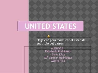AUTHORS : - Estefanía Rodríguez -Sonia Díaz - Mª Carmen Rodríguez -Marta Pino