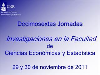 Facultad de Ciencias Económicas y Estadística