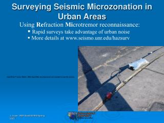 Surveying Seismic Microzonation in  Urban Areas