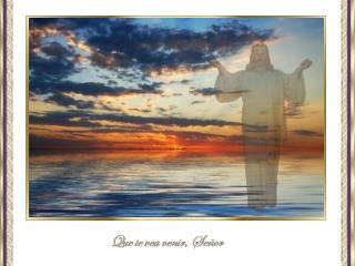 Que te vea venir, Señor pese a los acontecimientos que, en el mundo,