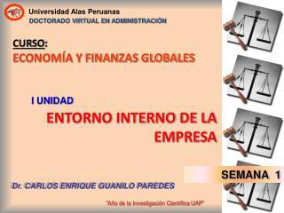 CURSO : ECONOMÍA Y FINANZAS GLOBALES