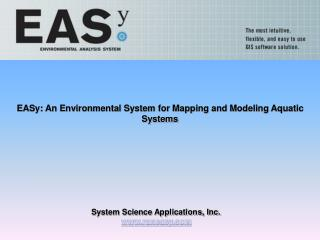 EASy: An Environmental System for Mapping and Modeling Aquatic Systems