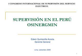 SUPERVISIÓN EN EL PERÚ OSINERGMIN