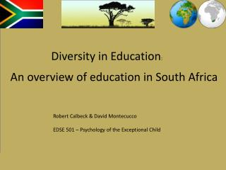 An overview of education in South Africa