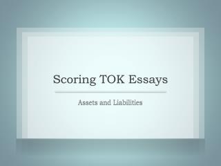 Scoring TOK Essays