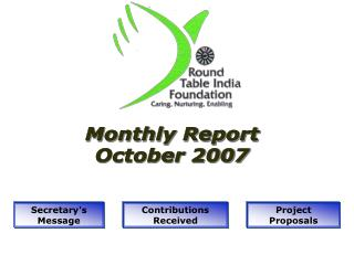 Monthly Report October 2007