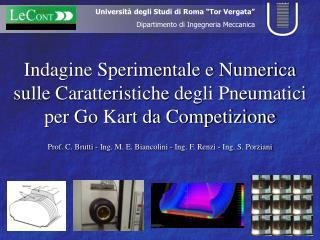 Prof. C. Brutti - Ing. M. E. Biancolini - Ing. F. Renzi - Ing. S. Porziani