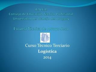 Curso Técnico Terciario Logística 2014