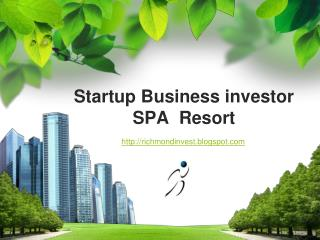 Startup Business Financing for SPA Resort in Italy