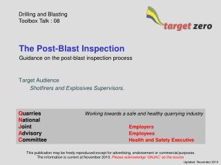 The Post-Blast Inspection