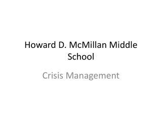 Howard D. McMillan Middle School