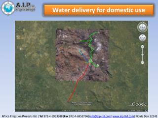 Water delivery for domestic use