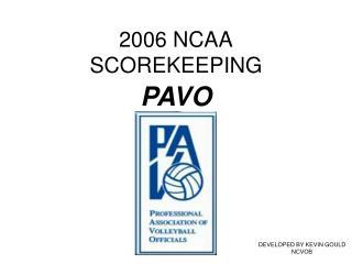 2006 NCAA SCOREKEEPING
