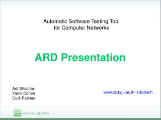 Automatic Software Testing Tool for Computer Networks
