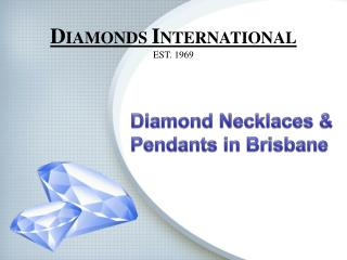 Diamond Necklaces & Pendants in Brisbane