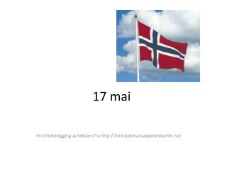 17 mai