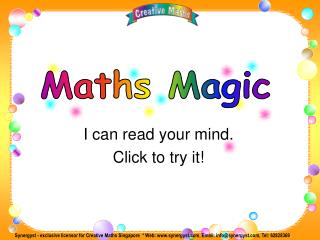 I can read your mind. Click to try it!