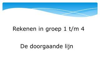 Rekenen in groep 1 t/m 4