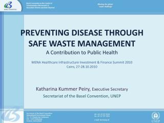 Katharina Kummer Peiry,  Executive Secretary Secretariat of the Basel Convention, UNEP