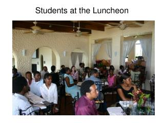 Students at the Luncheon