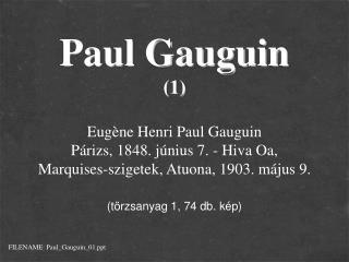 Paul Gauguin (1)