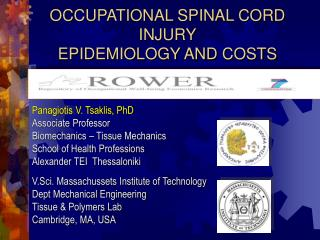 OCCUPATIONAL SPINAL CORD INJURY EPIDEMIOLOGY AND COSTS