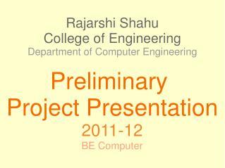 Rajarshi Shahu College of Engineering Department of Computer Engineering