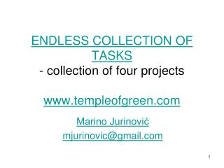 ENDLESS COLLECTION OF TASKS  - collection of four projects templeofgreen