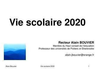Vie scolaire 2020