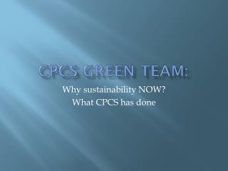 CPCS Green Team: