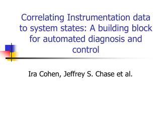 Ira Cohen, Jeffrey S. Chase et al.