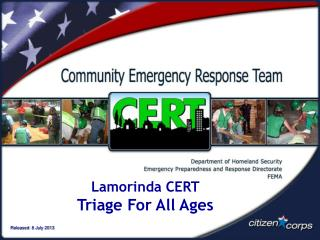 Lamorinda CERT Triage For All Ages