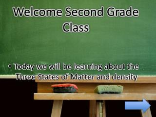 Welcome Second Grade Class