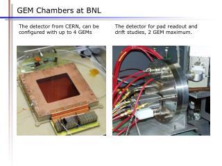 GEM Chambers at BNL