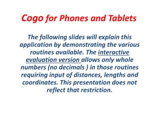 Cogo  for Phones and Tablets